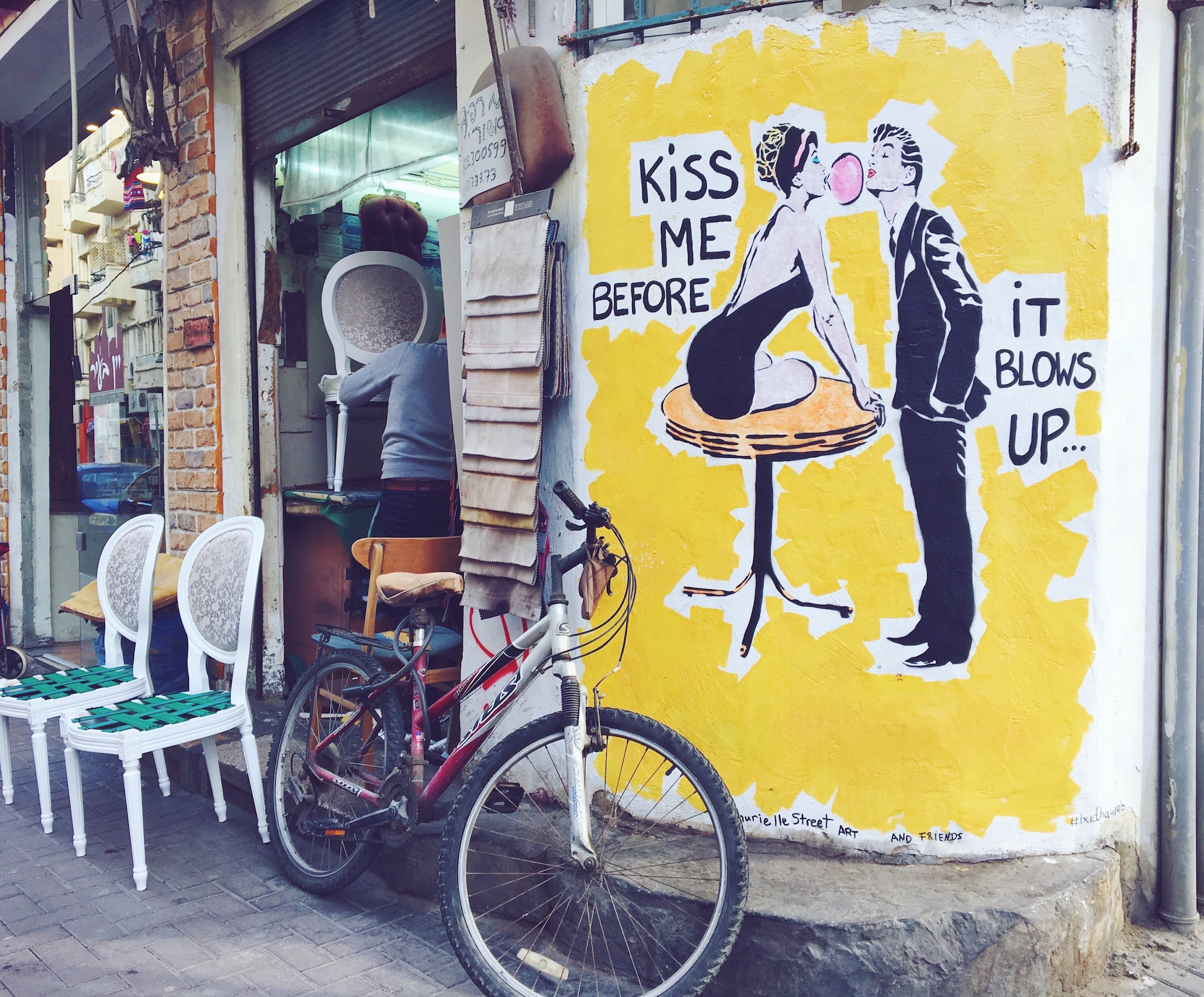 I murales e i graffiti di Tel Aviv nel quartiere Florentin - Israele