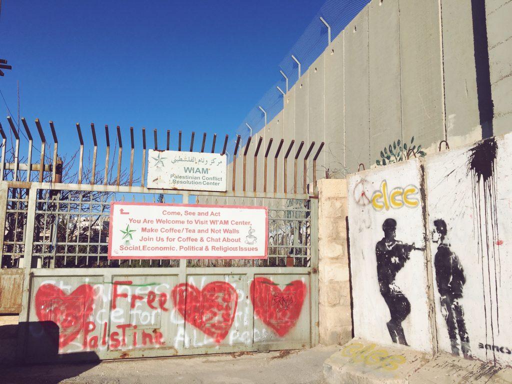 Make coffee, not war - Muro di Betlemme tra Palestina e Israele