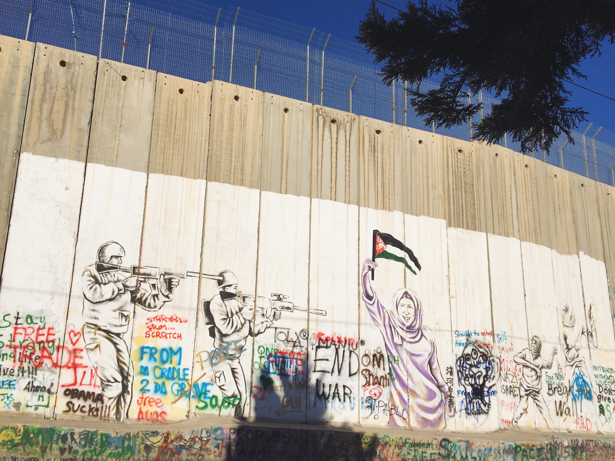 Make coffee, not war - Muro di Betlemme tra Palestina e Israele