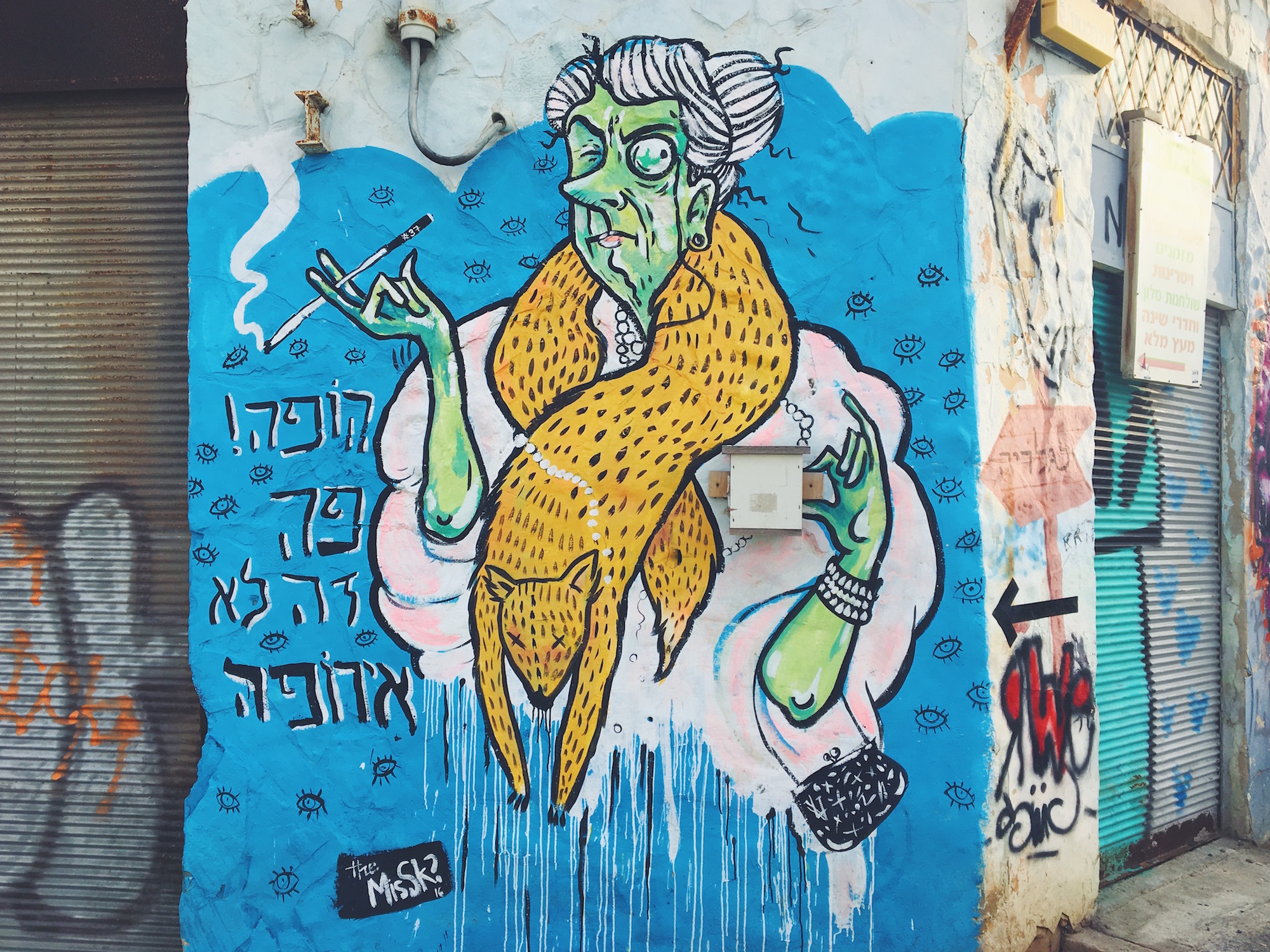 Quartiere Florentin a Tel Aviv - graffiti e murales