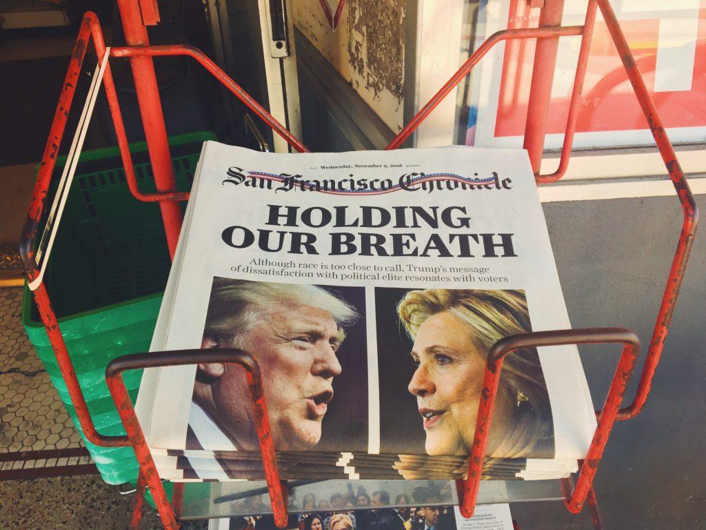 Il giornale del giorno in cui Trump ha vinto le elezioni