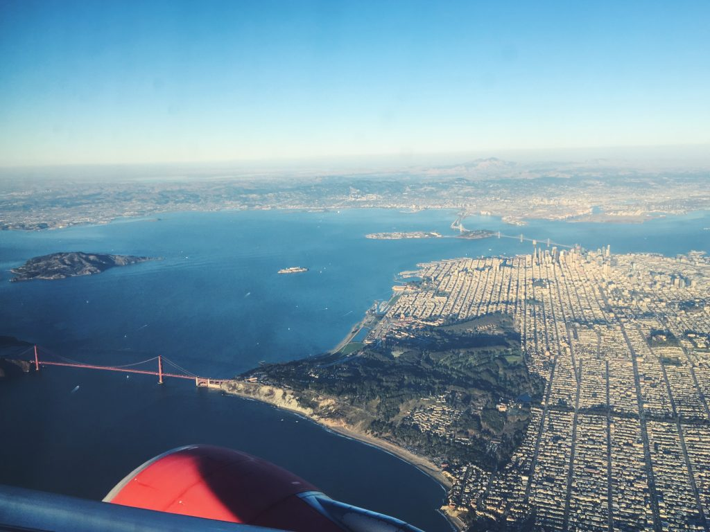 San Francisco dall'aereo