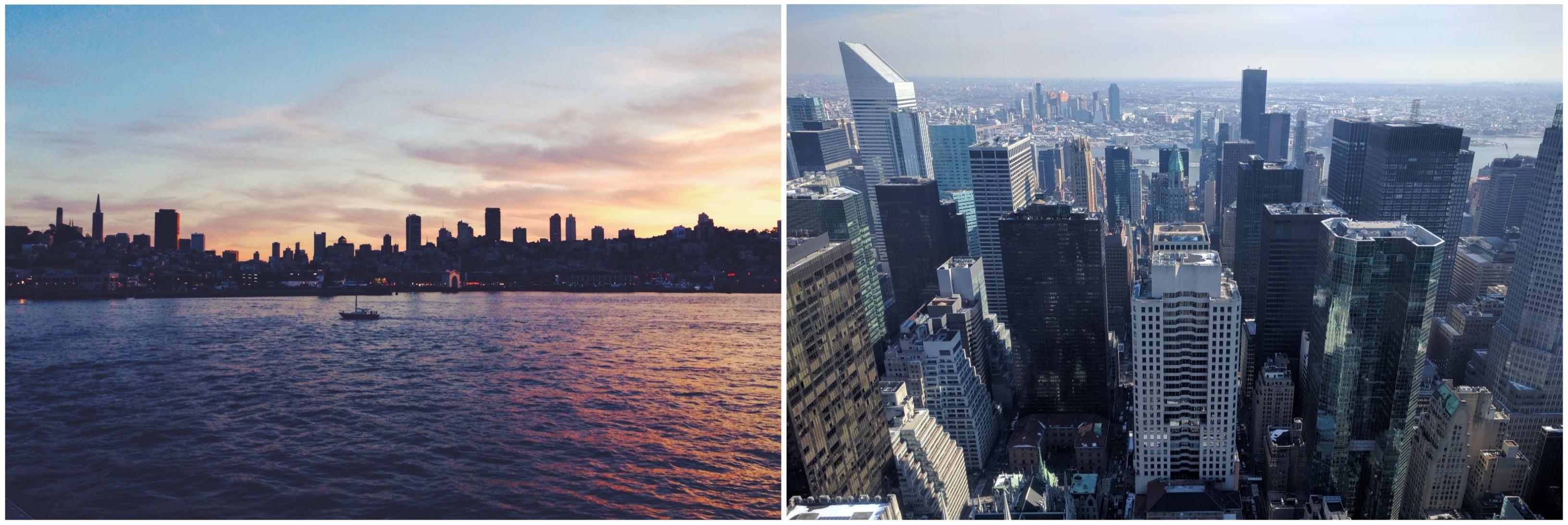 San Francisco ha una manciata di grattacieli, New York una foresta.