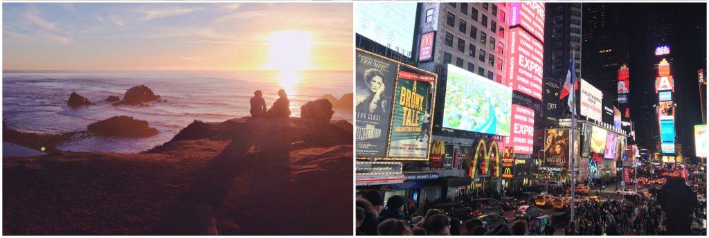 San Francisco va a dormire quando cala il sole, New York non dorme mai.
