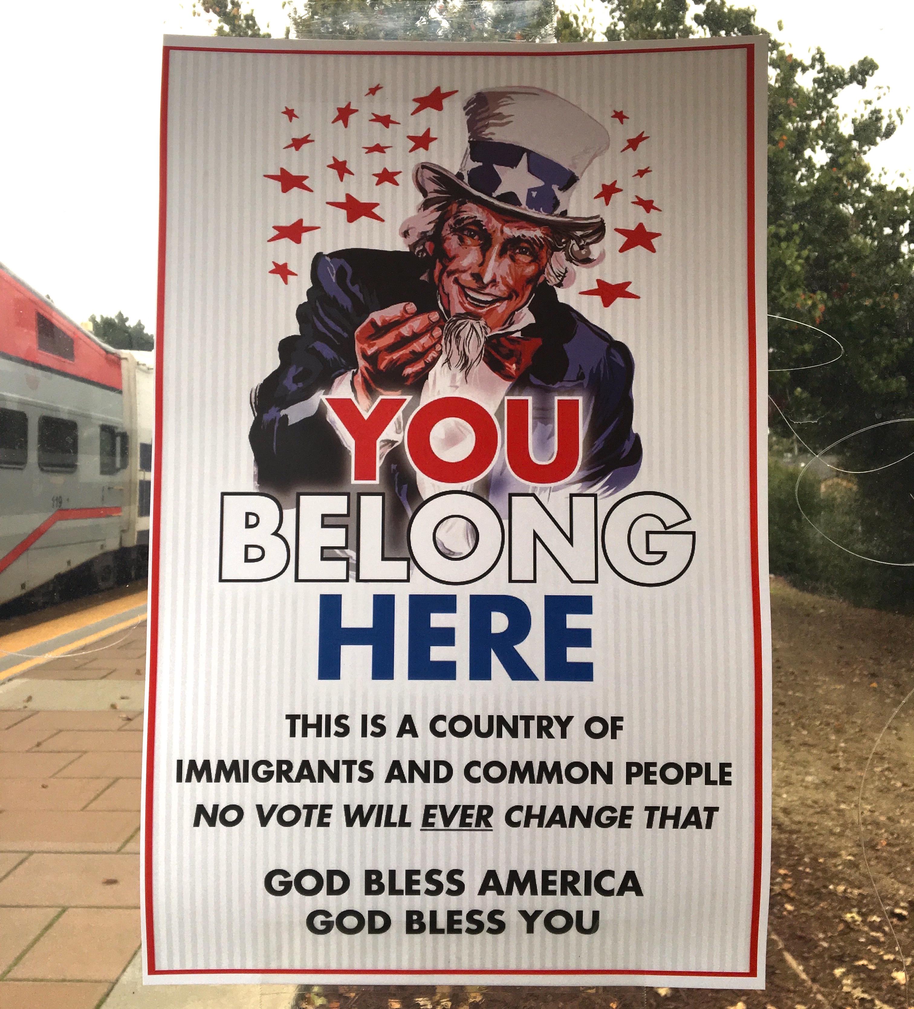 Manifesto fotografato da me alla stazione del treno di Sunnyvale, Silicon Valley