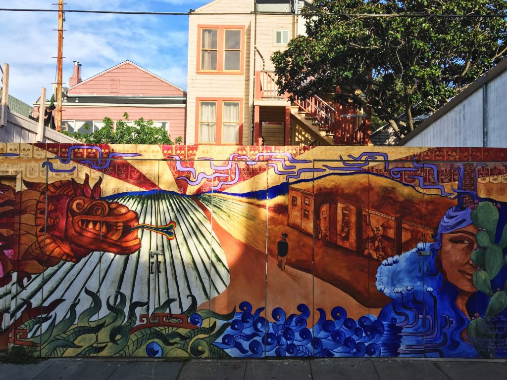 Balmy Alley - Murales nel quartiere Mission di San Francisco - 56 LW The Wanderer (2011) - Carlita Wo