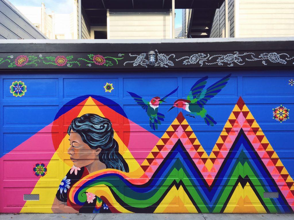 Balmy Alley - Murales nel quartiere Mission di San Fracisco - Arcobaleno messicano