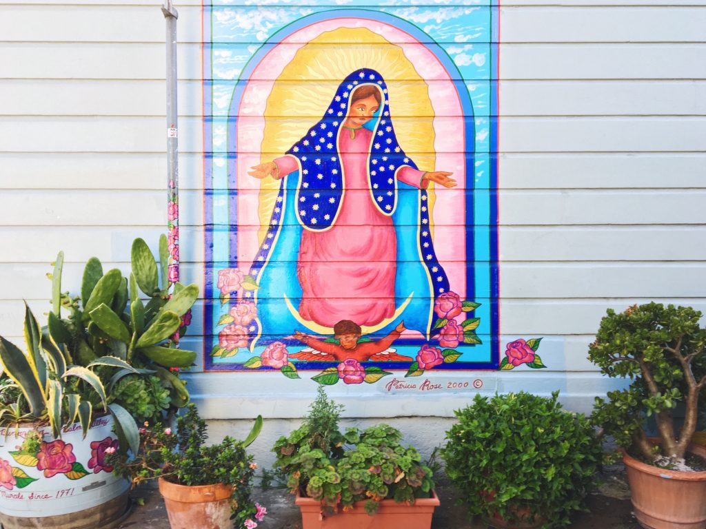 Balmy Alley - Murales nel quartiere Mission di San Francisco - Madonna - La Virgencita by Patricia Rose - 2011