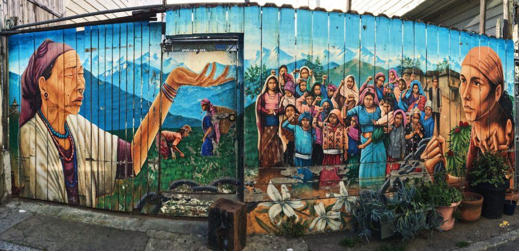 Balmy Alley - Murales nel quartiere Mission di San Fracisco - Naya Bihana A New Dawn (2002) - Artist Martin Travers1