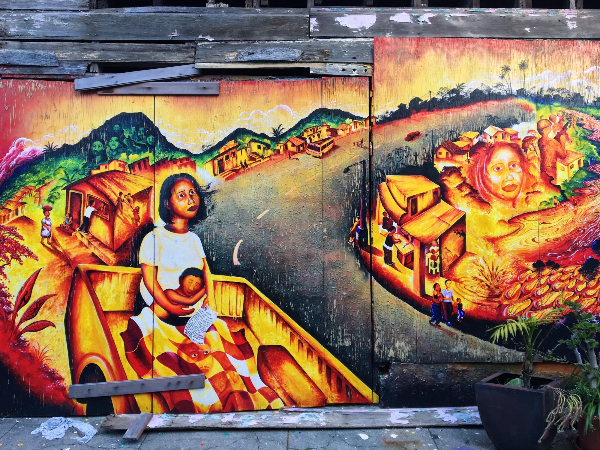 Balmy Alley - Murales nel quartiere Mission di San Fracisco - Past That Still Lives (2004) - Joel Bergner1