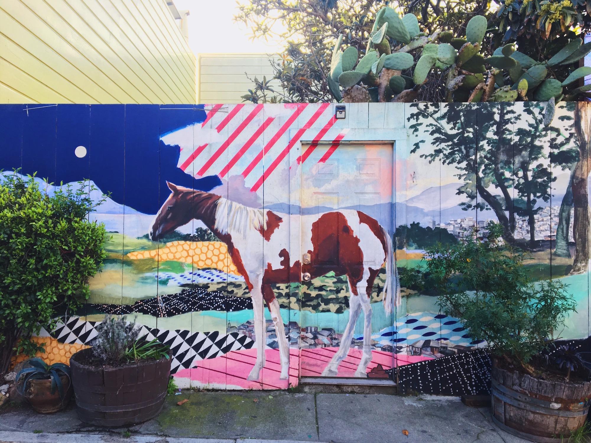 Balmy Alley - Murales nel quartiere Mission di San Francisco - Urban Pastoral - Gaby Wolodarski