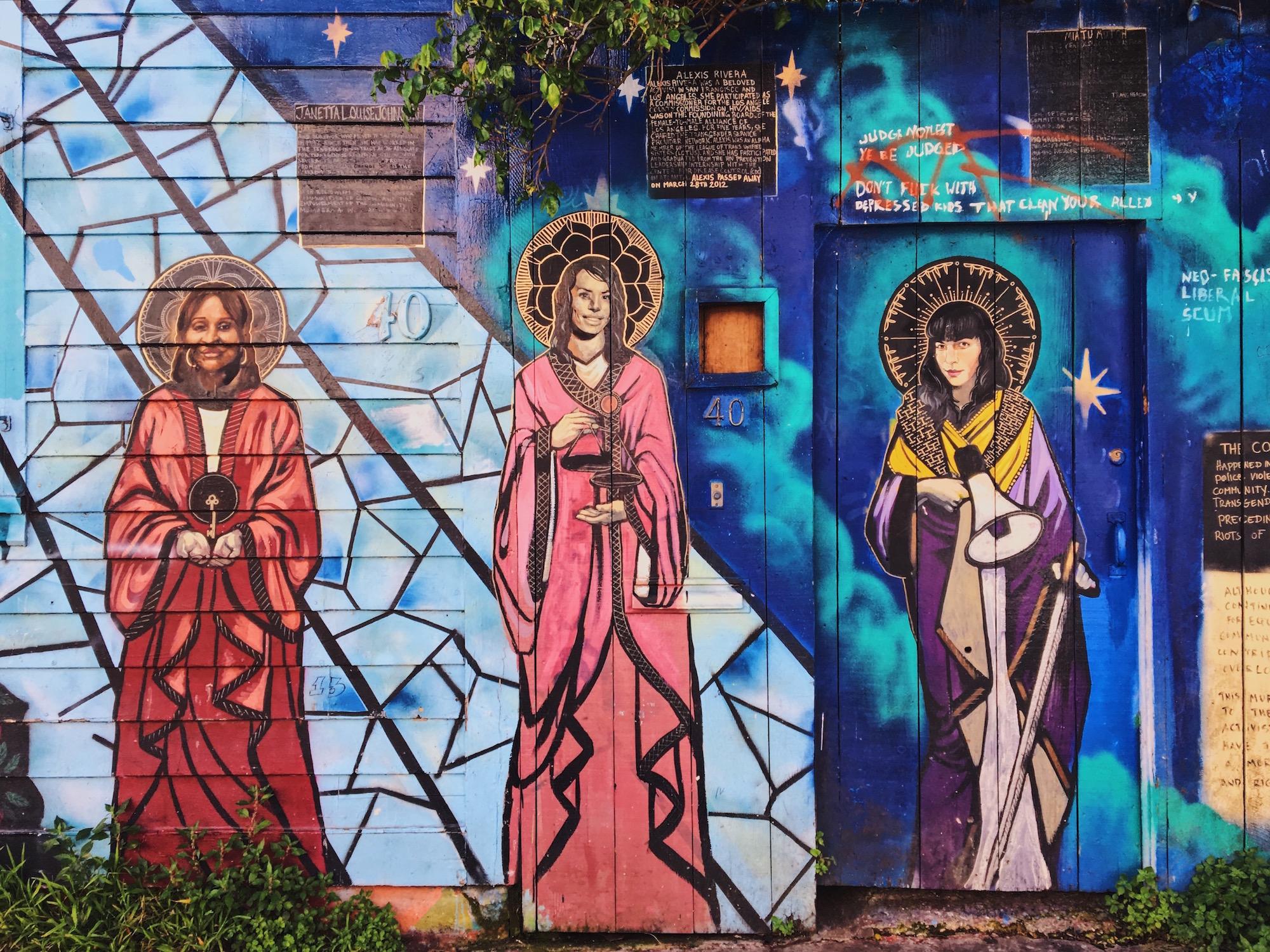 Clarion Alley - Murales nel quartiere Mission di San Francisco - Honoring Trans Activists (2012) - Tanya Wischerath