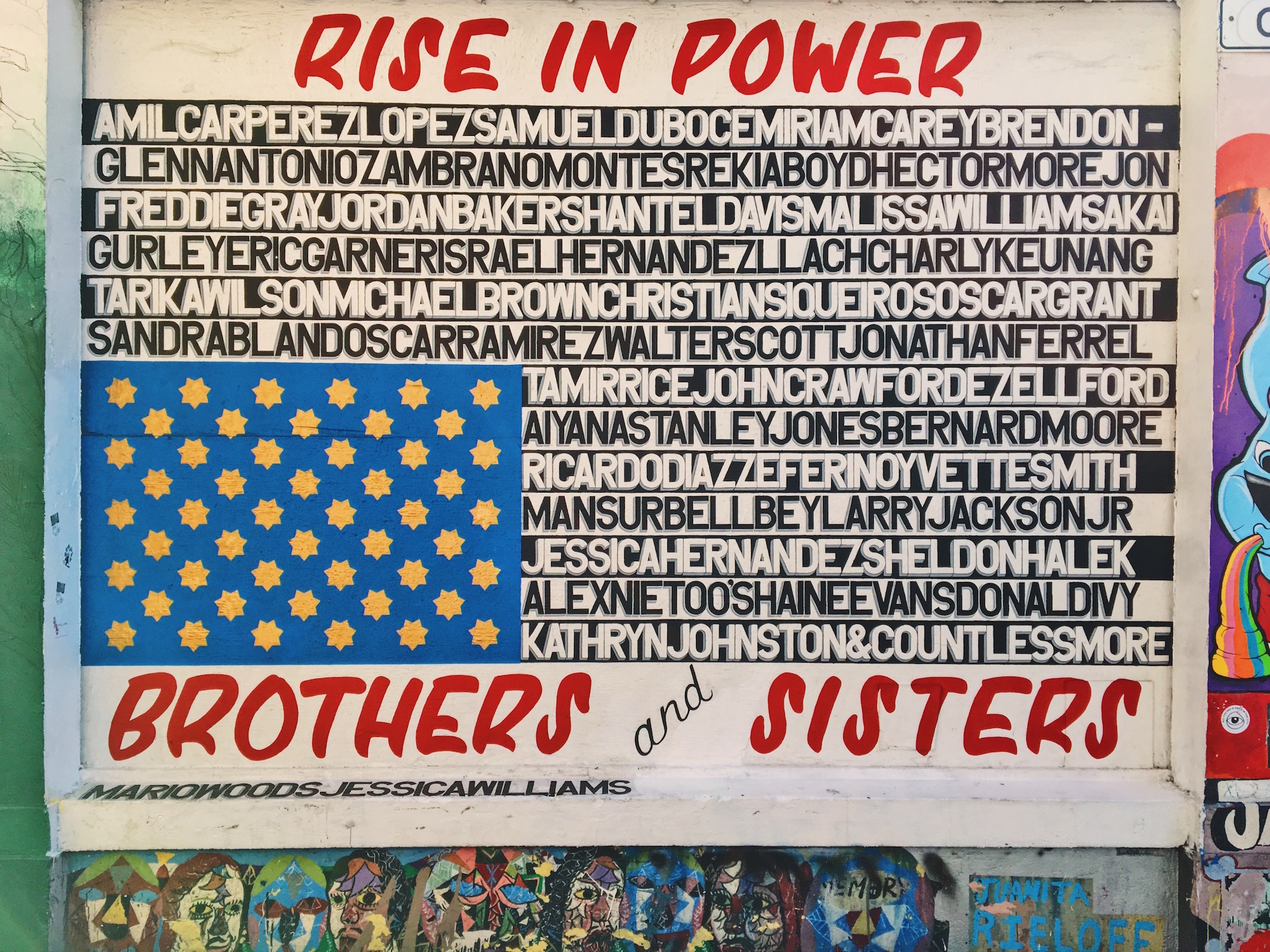 Clarion Alley - Murales nel quartiere Mission di San Francisco - Rise in power brothers and sisters