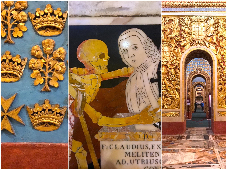 Dettagli - la Concattedrale di San Giovanni con la Decollazione di San Giovanni Battista di Caravaggio