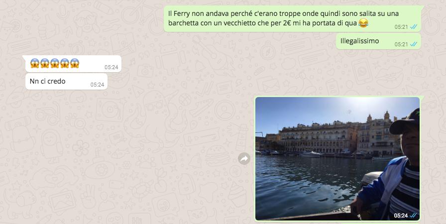 Il mio traghetto da Valletta a Vittoriosa (Birgu)