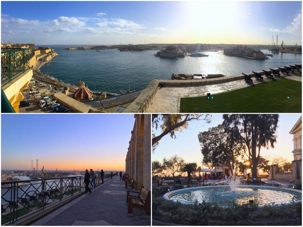 La più bella vista di Malta - gli Upper Barrakka Gardens