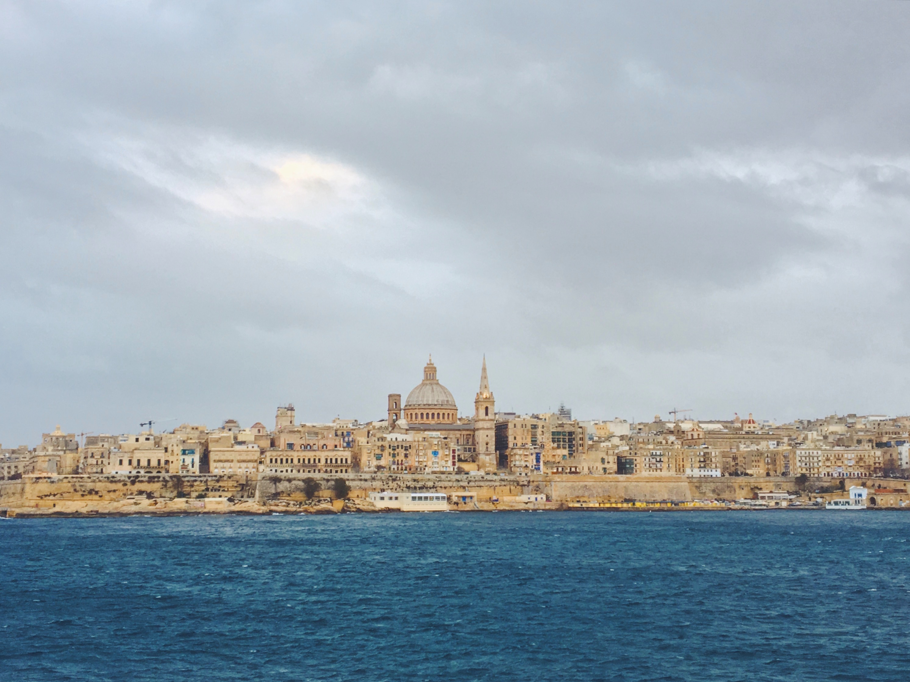 La vista di Valletta da Sliema