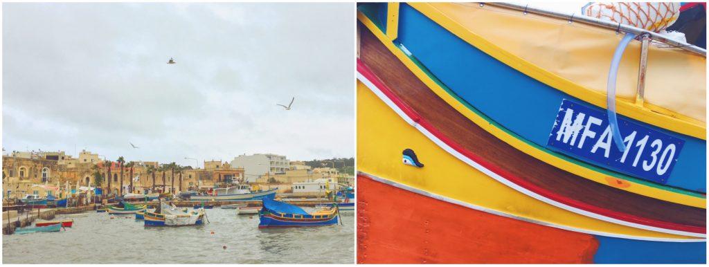 Le barche colorate di Malta e il porto di Marsaxlokk