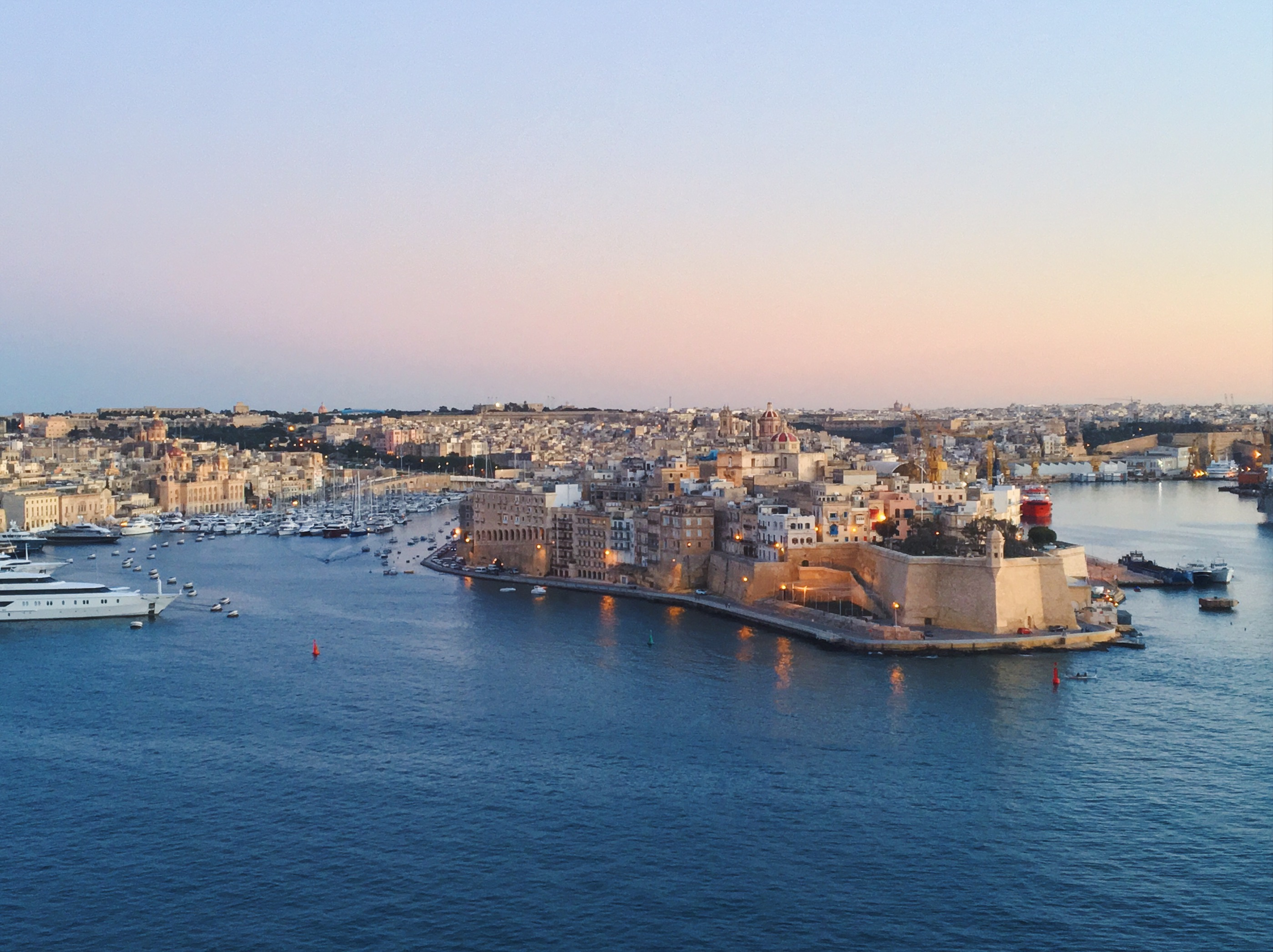 Vittoriosa - Birgu - vista da Valletta - Upper Barakka Gardens