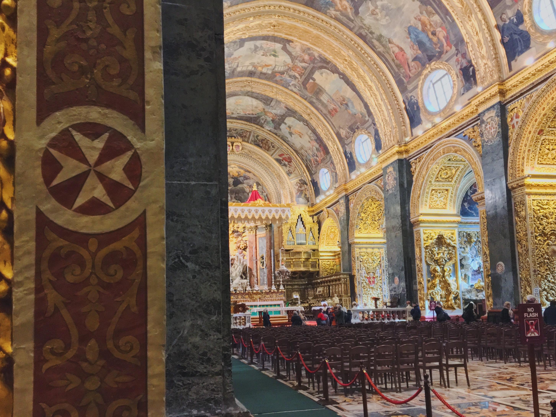 la Concattedrale di San Giovanni con la Decollazione di San Giovanni Battista di Caravaggio