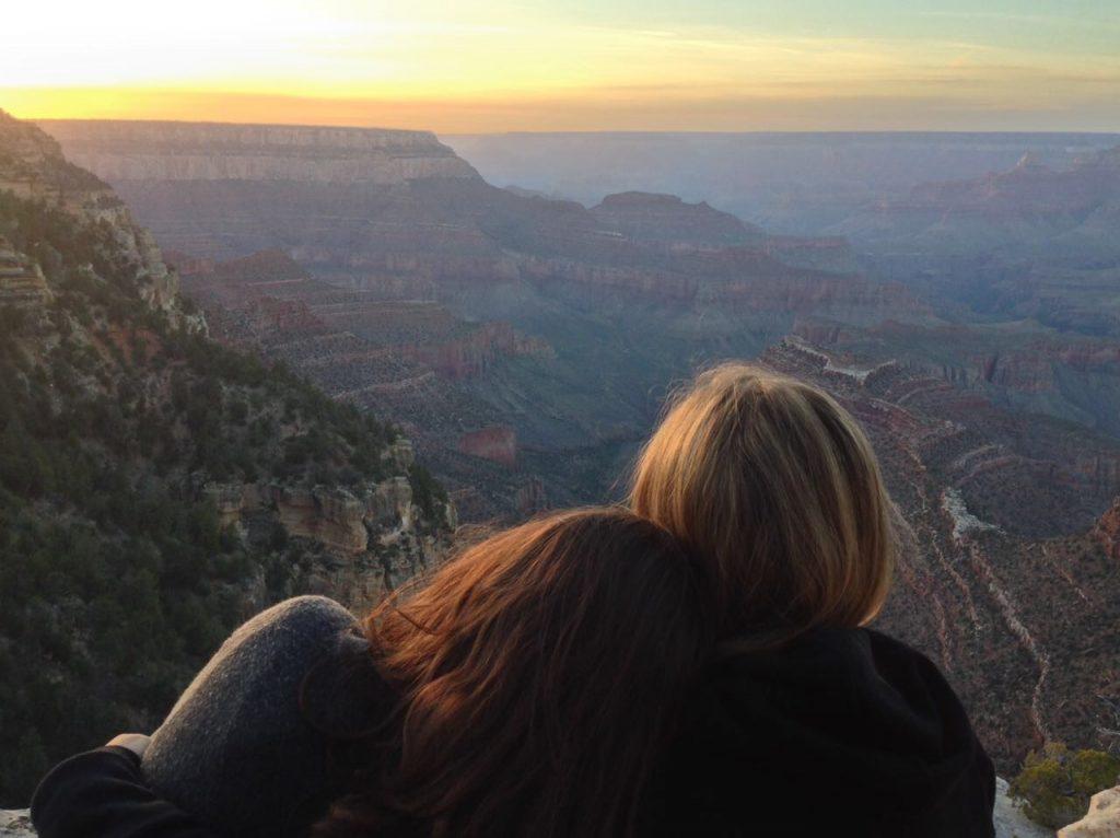 Il tramonto sul Grand Canyon