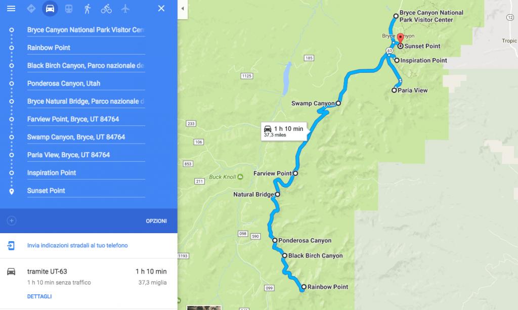 Cosa vedere al Bryce Canyon - le tappe della Scenic Drive
