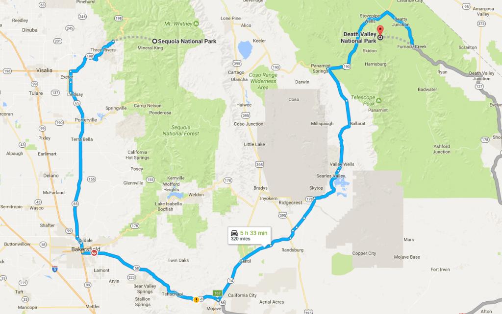 Dal Sequoia alla Death Valley in auto