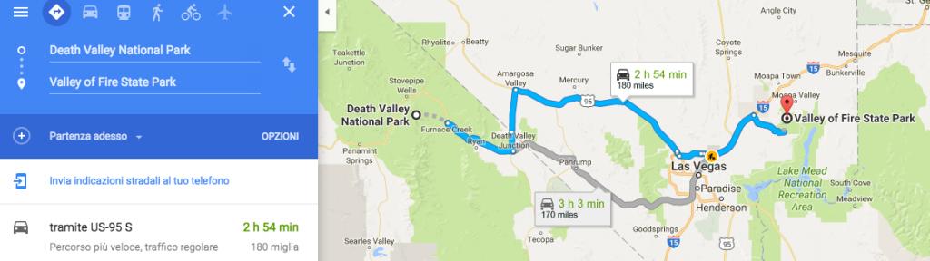Dalla Death Valley alla Valley of FIre