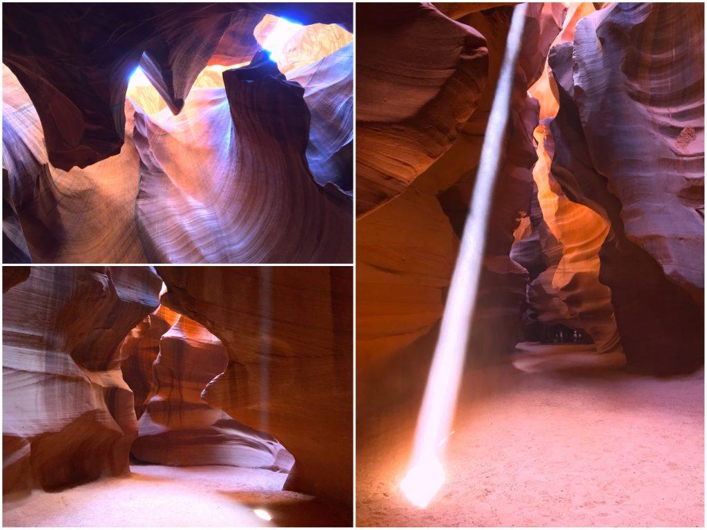 I raggi di luce - light beams - dell'Upper Antelope Canyon