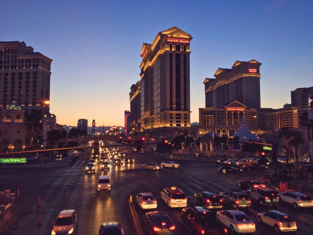 Il momento piu bello di Las Vegas, il tramonto