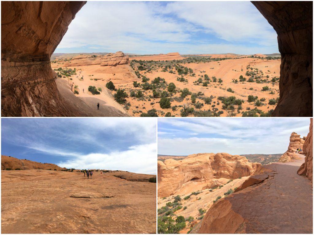 Il sentiero per raggiungere il Delicate Arch all Arches National Park