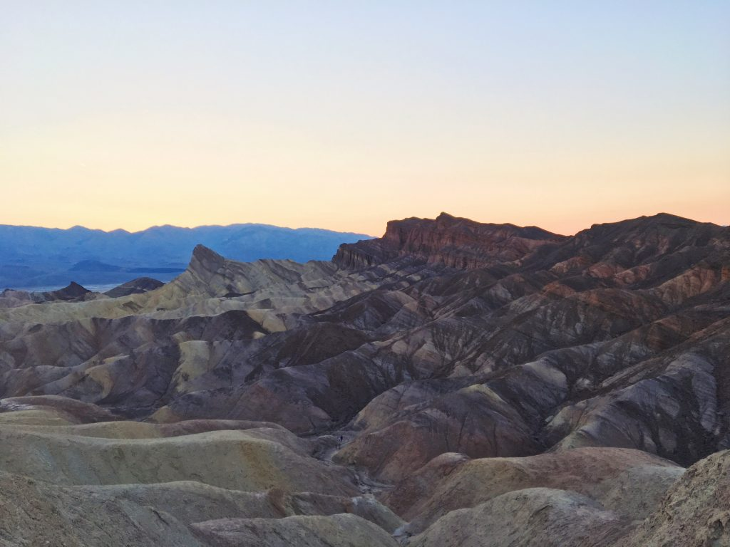 Il tramonto allo Zabriskie Point - Death Valley
