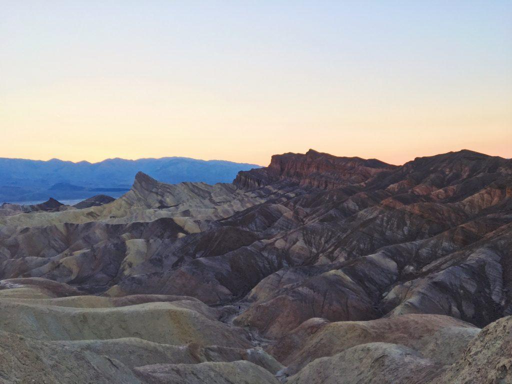 Il tramonto allo Zabriskie Point - Death Valley