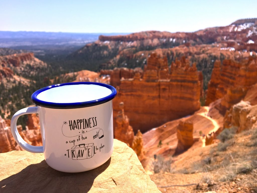 La tazza Inkyourtravel al Bryce Canyon - Happiness is a cup of tea and a travel to plan