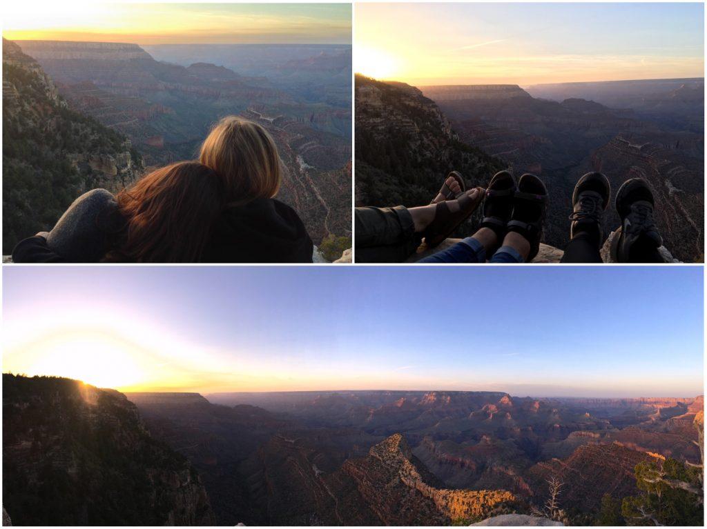 Vedere il tramonto al Grand Canyon