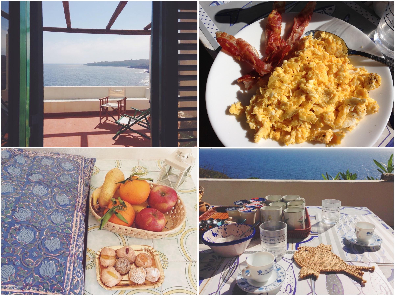 Dammusi Le Case del Principe di Pantelleria la colazione sul mare