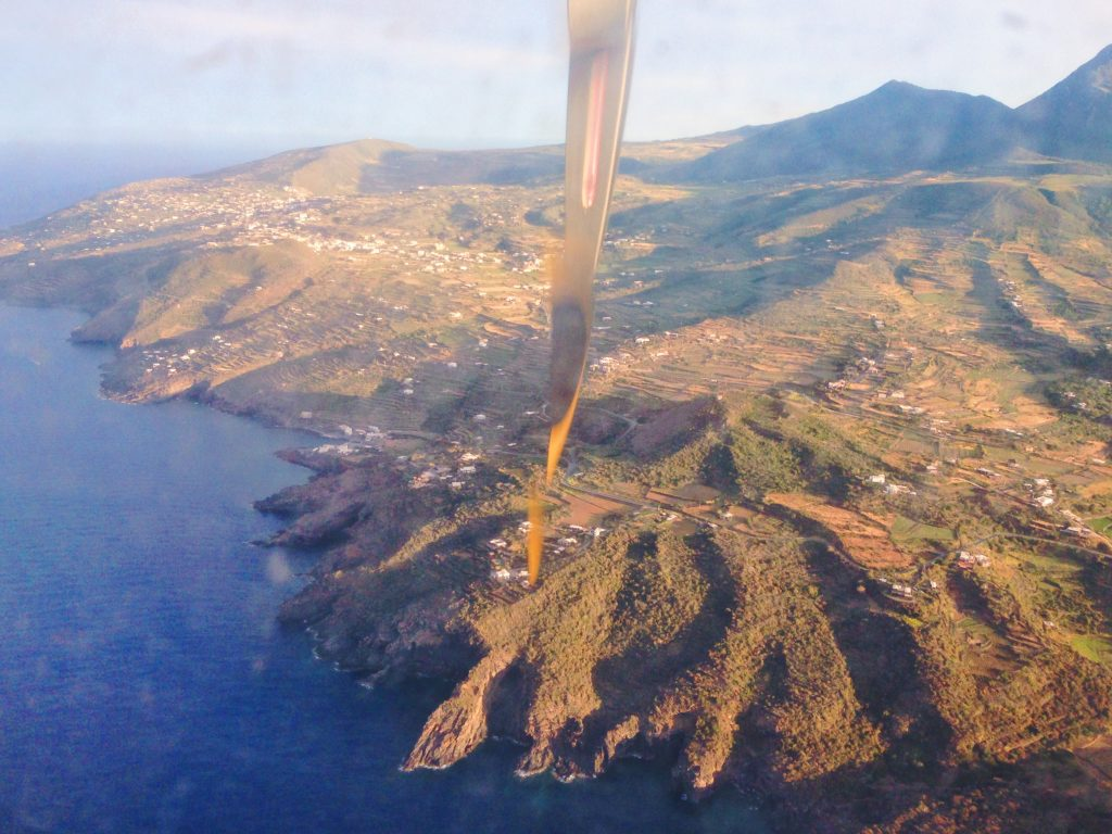La forma di Pantelleria dall'alto