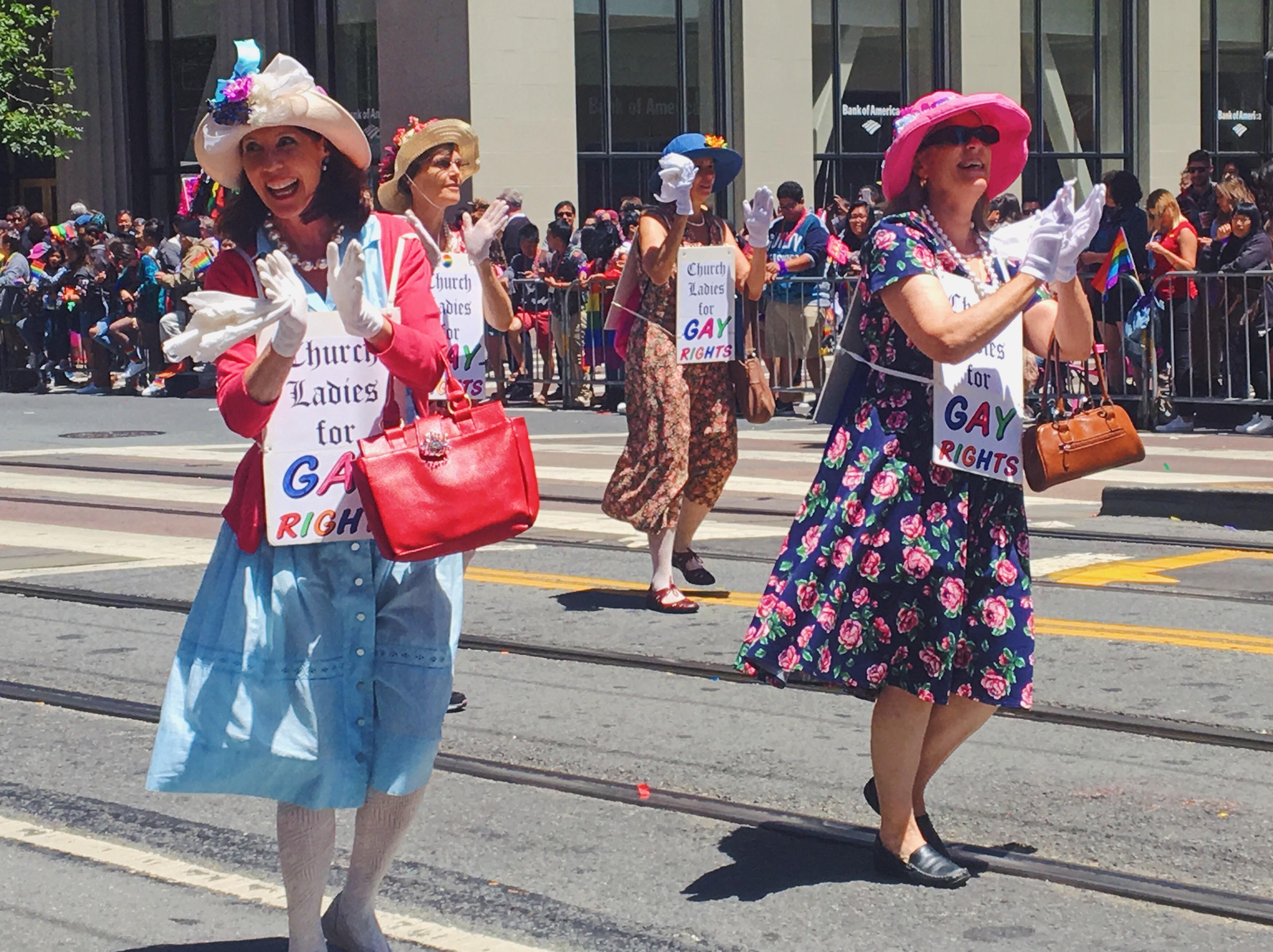 Le donne di chiesa a favore dei diritti gay - L'evento migliore di San Francisco - la LGBTQ Pride Parade
