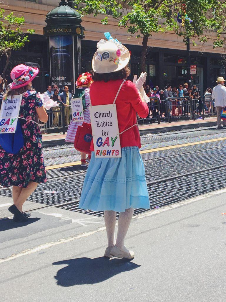 Le donne di chiesa a favore dei diritti gay - L'evento migliore di San Francisco - la LGBTQ Pride Parade2