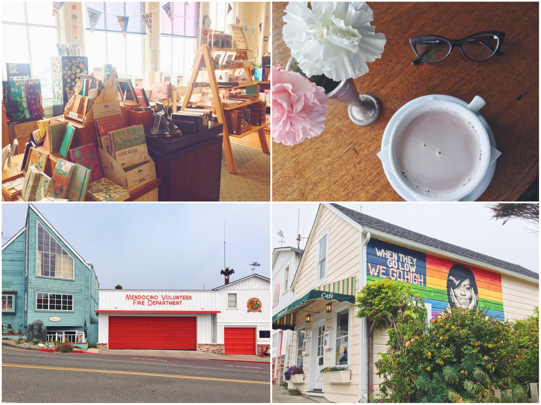 Una passeggiata tra le stradine e i negozietti di Mendocino in California