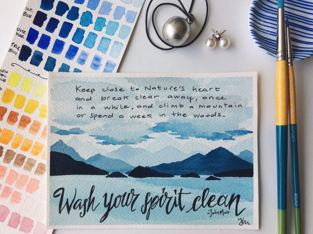 Wash your spirit clean - acquerello Alaska
