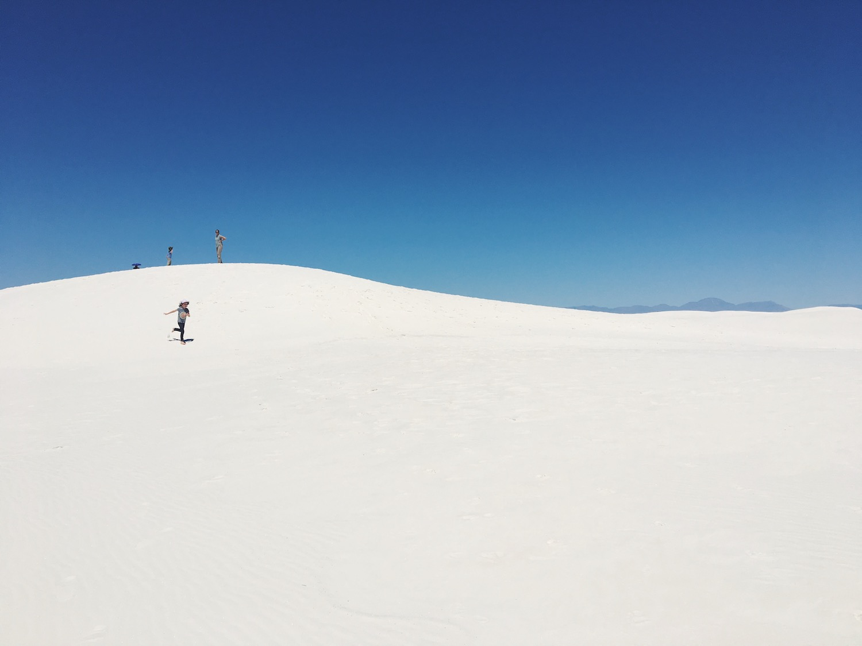 White Sands deserto di sabbia bianca - New Mexico - Stati Uniti - dune di gesso