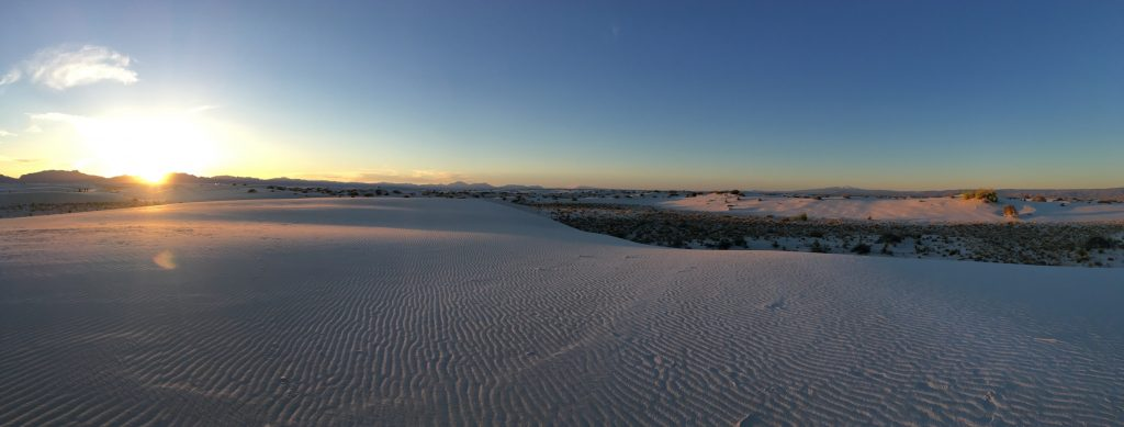 White Sands deserto di sabbia bianca - New Mexico - deserto al tramonto
