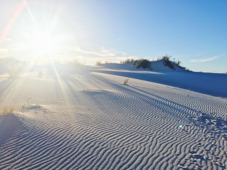 White Sands deserto di sabbia bianca - New Mexico - dune di gesso