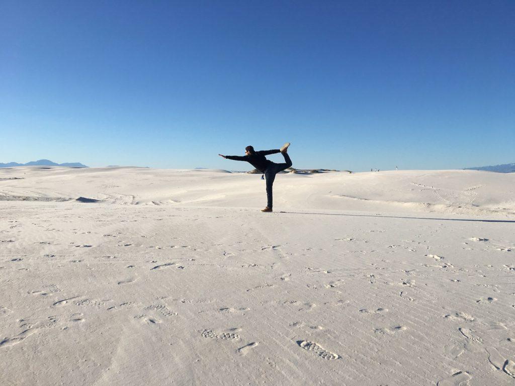 White Sands deserto di sabbia bianca - New Mexico - foto in prospettiva