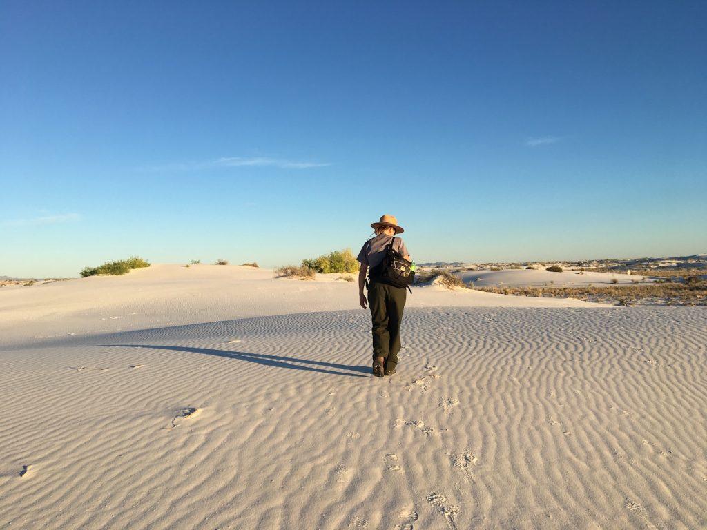 White Sands deserto di sabbia bianca - New Mexico - visita guidata con il ranger al tramonto