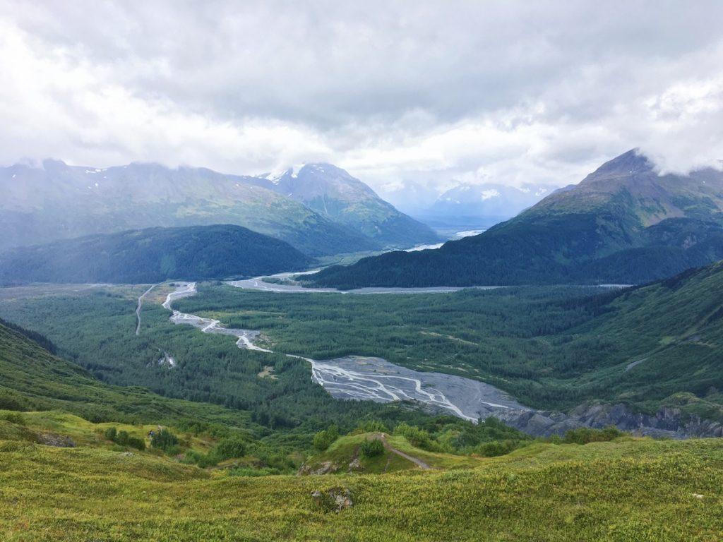 Vista dalla cima del ghiacciaio - Itinerario di 10 giorni in Alaska - penisola del Kenai