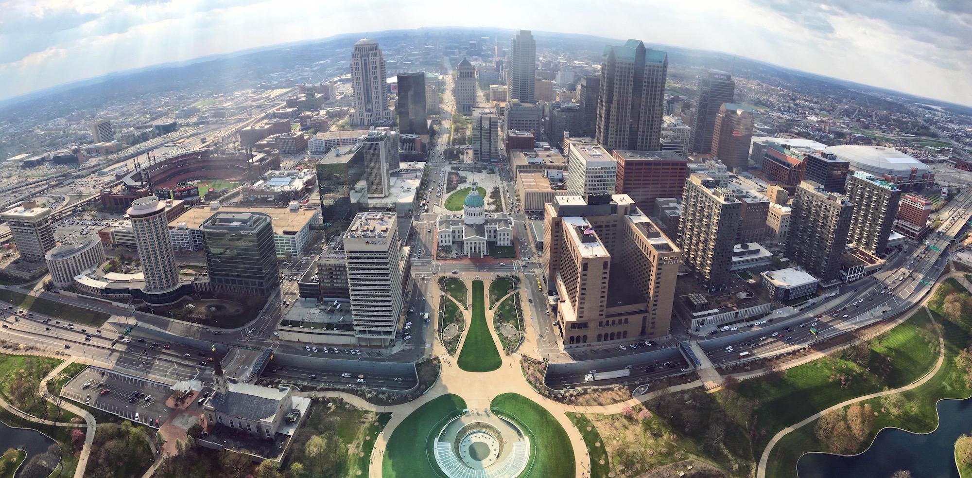 Cosa vedere a St Louis - St Louis dall'alto