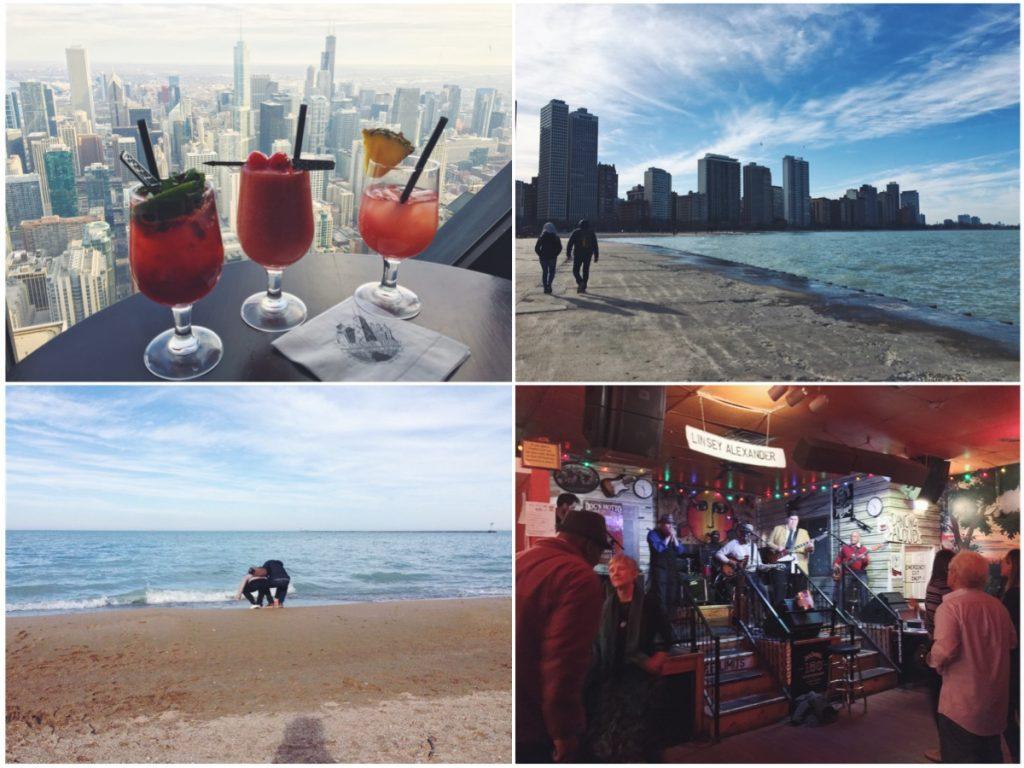 Vedere Chicago dell'alto e ascoltare del buon blues