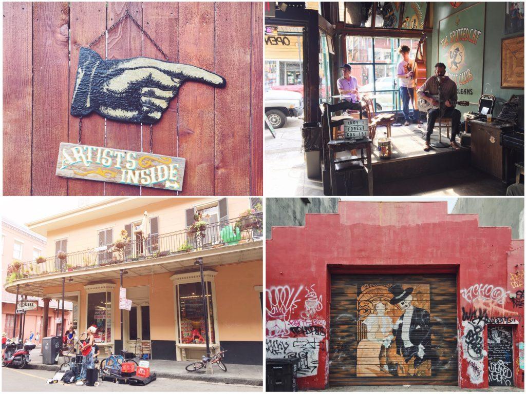 Ascoltare musica dal vivo nel quartiere francese di New Orleans
